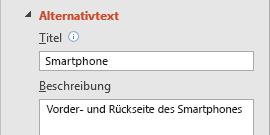 """PowerPoint-Alternativtext beim Feature """"Bilder"""""""