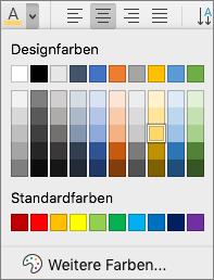 Auswählen einer Schriftfarbe
