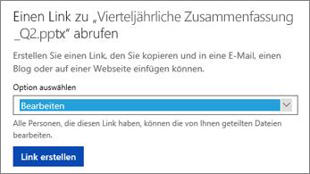 """""""Bearbeiten"""" auswählen, um anderen Benutzern das Bearbeiten der Datei zu gestatten"""