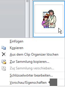 """Verwenden Sie den Befehl """"Vorschau/Eigenschaften"""", um eine größere Version des Bilds und weitere Details zu dem Bild anzuzeigen."""
