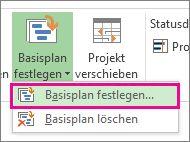 Festlegen eines Basisplans für ein Projekt