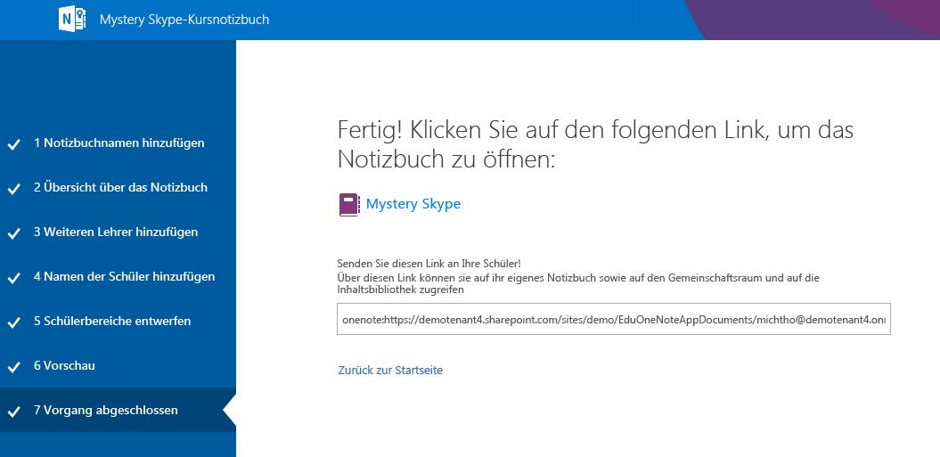 Damit ist die Einrichtung von Mystery Skype abgeschlossen.
