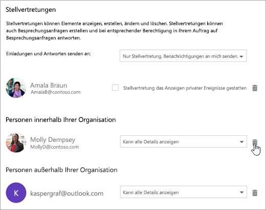 """Screenshot des Dialogfelds """"Diesen Kalender freigeben"""""""