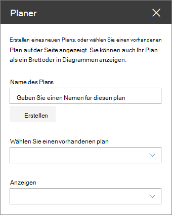 Planer Web Webpart-toolbox