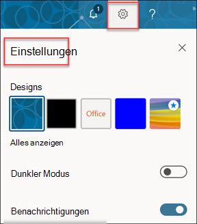 Microsoft 365-Kontoeinstellungen.