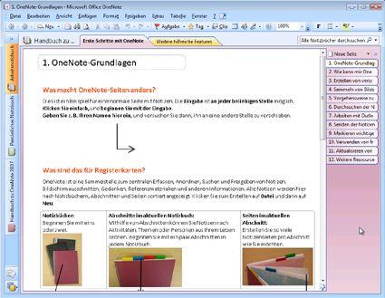 OneNote 2007-Notizbuchanleitung