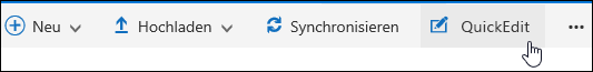 Verwenden von QuickEdit zum Ändern einer benutzerdefinierten Ansicht einer Dokumentbibliothek