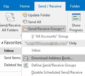 Einen Screenshot senden / empfangen-Menü