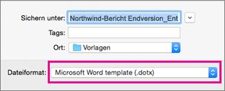 Erstellen Und Verwenden Einer Eigenen Vorlage In Office Für Mac