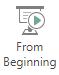 Auswählen von Beginn an auf der Registerkarte Ansicht im Menüband zum Starten einer Bildschirmpräsentation