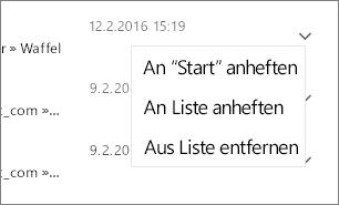 Screenshot zum Anheften einer Datei.