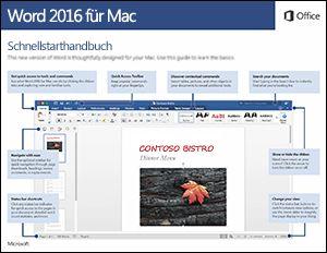 Word 2016 für Mac – Schnellstartleitfaden