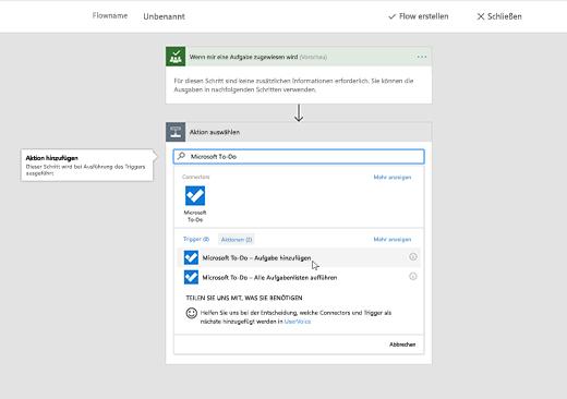 """Screenshot mit ausgewähltem """"Microsoft To-Do"""""""