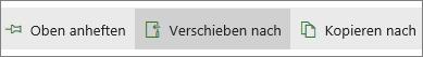 """Schaltfläche """"Verschieben in"""" im Hauptmenü"""