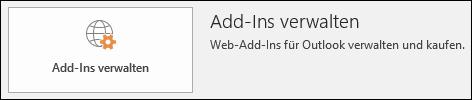 Add-In-Schaltflächen in Outlook verwalten