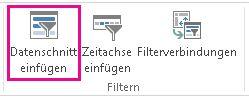 Schaltfläche 'Datenschnitt einfügen' auf der Registerkarte 'Analysieren'