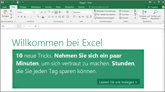 Welcome to Excel - Take a tour of new features