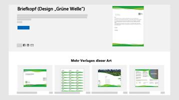 Geschäftsdokument Vorlagen auf templates.office.com