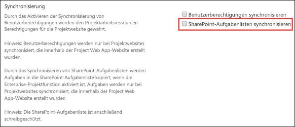 SharePoint-Aufgabenlisten synchronisieren