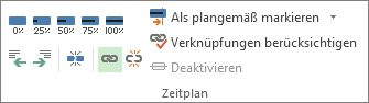 Schaltfläche 'Vorgänge verknüpfen' in der Gruppe 'Zeitachse' auf der Registerkarte 'Vorgang'