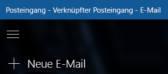 Wählen Sie neue e-Mail zum Erstellen einer neuen Nachricht