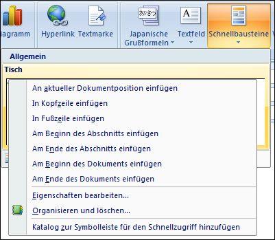 Outlook 2007 bearbeiten Quick-Webparts