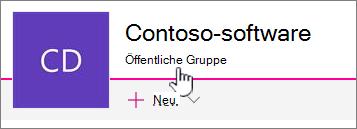 """Der Untertitel """"Gruppe"""" wird auf mit einer Gruppe verbundenen Websites angezeigt."""