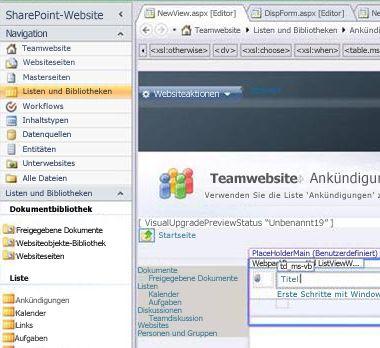 Erstellen einer Ansicht in Microsoft SharePoint Designer2010