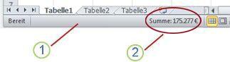 Excel-Statusleiste