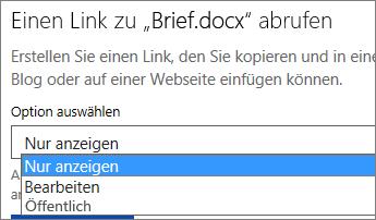 """Link für """"Nur anzeigen"""""""