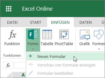 Formulare > Neues Formular