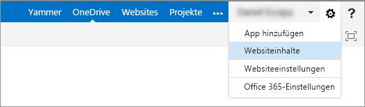 """Klicken Sie auf """"Websiteinhalt"""", um auf die Kursnotizbücher zuzugreifen."""