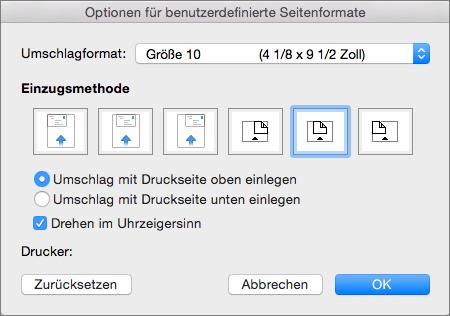 Erstellen Und Drucken Eines Einzelnen Umschlags In Word Für Mac