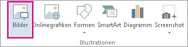 Der Befehl 'Bilder' auf der Registerkarte 'Einfügen'