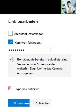 """Screenshot der Einstellungen für """"Link bearbeiten"""""""