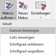 """Das Menü """"Makros bearbeiten"""" in Onetastic für OneNote"""