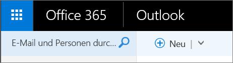 So sieht das Menüband von Outlook im Web aus.