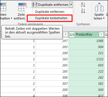 Power Query –  Duplikate beibehalten
