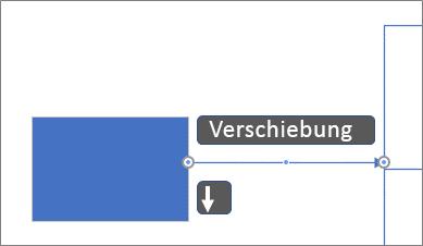 Pixelweises Verschieben eines Verbinders