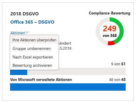 """Compliance-Manager – Kachel """"Bewertung"""""""