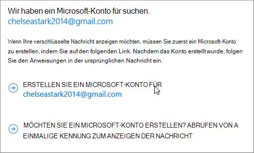 Ein Microsoft-Konto erstellen