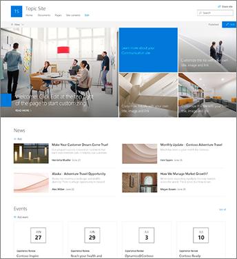 Kommunikationswebsite