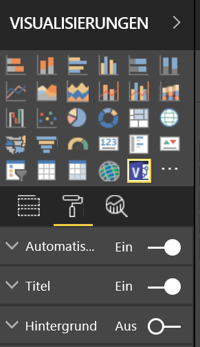 Visualisierungsbereich in Power BI