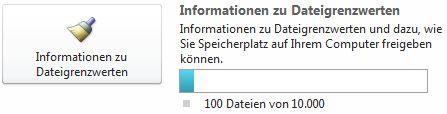 SharePoint Workspace-Dokumentzähler bei Verwendung von weniger als 7500 Dokumenten