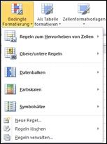 Formatvorlagen für die bedingte Formatierung