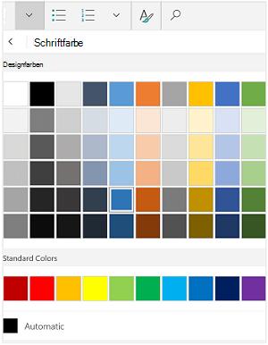 Schriftfarben