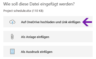 Dateieinfügeoptionen in OneNote für Windows 10