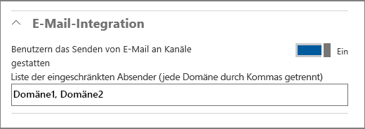 E-Mail-Integration