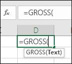 Screenshot der Symbolleiste mit Funktionsreferenz