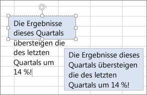 Ändern der Größe eines Textfelds entsprechend dem Inhalt